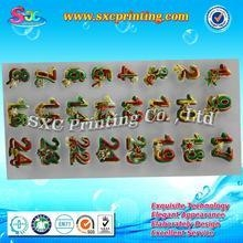 China Customized numbering stickers , adhesive sticker printing numbers , number sticker for poker chip on sale