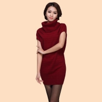China Women Knitwear The High-Necked Sleeveless Long Dress(WA028) on sale