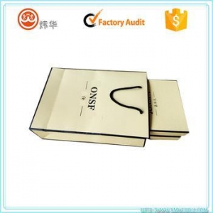 China accept small quantity custom shoping bags with paper material on sale