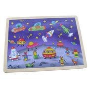 China Children's puzzles ORT34036 Space jigsaw puzzle, die-cut mould free, no splinters, paper lamination on sale