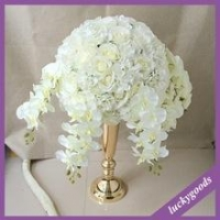 wedding and event table top decorative artificial flower big artificial flower with butterfly orchid