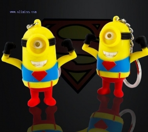 China Toys Superman Minions Led Keychain Item:201575111149 on sale