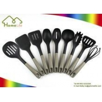 colorful stainless steel silicone nylon kitchen utensils and gadgets plastic kitchenware