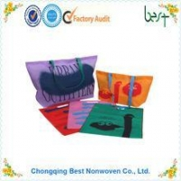 China Handfree Colorful non woven/non-woven shopping bag, tote bag manufacturer on sale