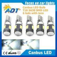 Hot sale T10 led smd bulb 194 168 W5W 5630 LED 6 SMD White automotive smd t10 smd 5630