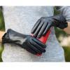China Women Genuine Leather Gloves Women Fashion Leather Gloves With Folded Leather Trim GY112 for sale
