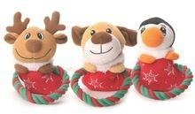 China Christmas Pet Toys Set with Cotton Rope/Soft Pet Toys for Christmas/ Plush Pet Toy Set on sale