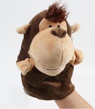China Plush Velour Animals Hand Puppets/animal hand gloves puppet/plush monkey hand puppet on sale