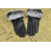 China Fashion Rabbit Fur Leather Gloves GY444 for sale