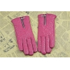 China Women Genuine Leather Gloves GY445 with Channel Zipper & Embroidery (Christmas Gift) for sale