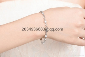 China women lady diamond bracelet chain alloy bangle gift for love wholesale factory on sale