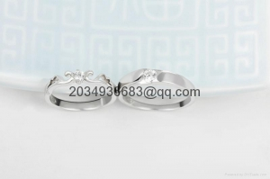China 925 sterling silver men women couple lovers rings diamond on sale