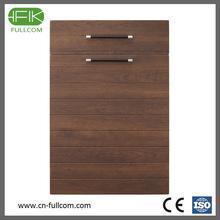 China Vivid wood grain pvc faced kitchen cabinet door on sale