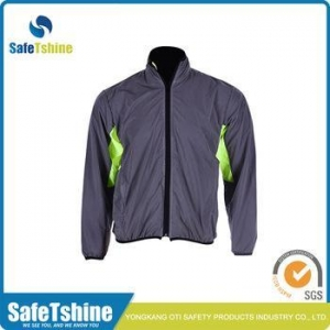 China High visibility breathable reflective fluorescent polyester bike jacket on sale