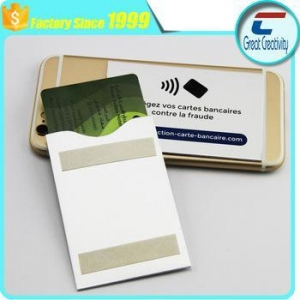 China double sides adhesive tape aluminium mobile card holder cd sleeves on sale