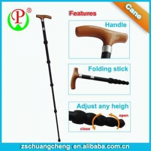 China CARE specialize in rehabilitation equipment wooden handle walking sticks on sale