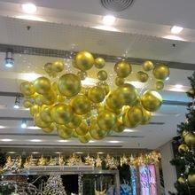 China Atrium shopping mall Christmas decorations hanging ball christmas decoration on sale
