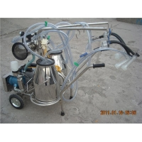 China Vacuum Pump Typed Double Bucket Nanny Goat Milking Machine on sale