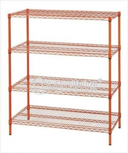 China Colorful Epoxy Coated Metal Wire Mesh Shelving,NSF Approval on sale