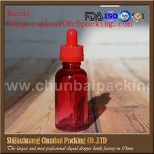 China wholesales 30ml e liquid bottle e juice bottle 30ml clear to red empty glass bottles for sale on sale