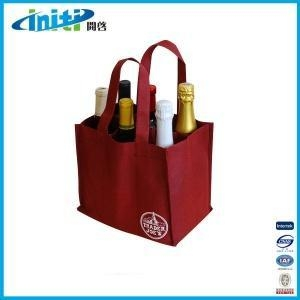 China High Quality Nonwoven Wine Bag/non woven red wine bag on sale