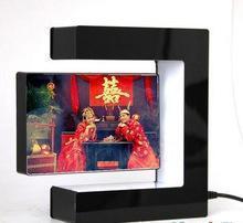 China hot sell acrylic magnetic levitation photo frame display, magnetic levitating display stand on sale