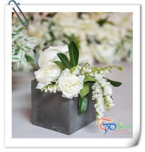 China Wedding Gift Mini Square Light Foam Cement Flower Pot Planter on sale