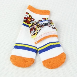 China Cotton soft sole baby shoe socks with custom design on sale