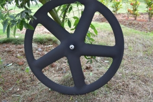 China carbon wheels 5 spokes Fixed gear spokes bicycle wheels road wheels on sale