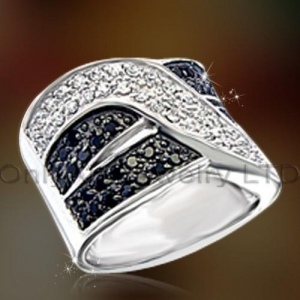 China Mens Gift Big Sterling Silver Ring OAR0174 on sale