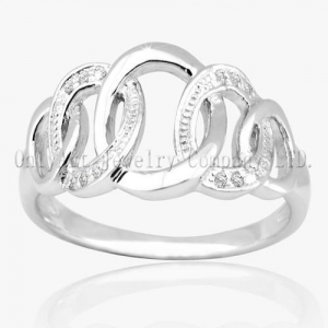China Fashinable 925 Sterling Silver Jewellery Ring on sale