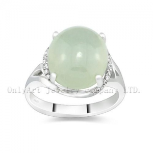 China Hot Sell Gemstone Stone Sterling Silver Ring on sale