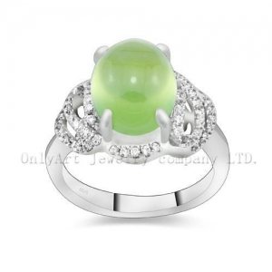 China Perfect Gift Gemstone Sterling Silver 925 Ring on sale