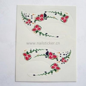 China Fashion temporary makeup floral eye shadow stciker eyelids tattoo on sale