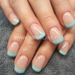 China Custom french nai art sticker French manicure tip guides factory on sale
