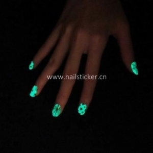 China Wholesale Thumbs Up color changing glow in the dark nail art sticker supplier on sale