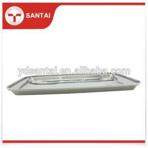 China Stainless steel food serving Tray on sale