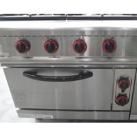 China commercial kitchen cooker 4 Burners Gas Range with oven on sale