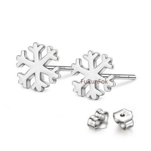 China Fashion 925 Sterling Silver Snowflake Stud Earring RE10527 on sale