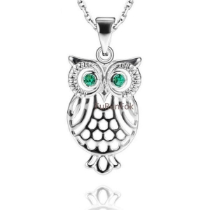 China Fashion 925 Sterling Silver Owl Pendant In Plain RP20305 on sale