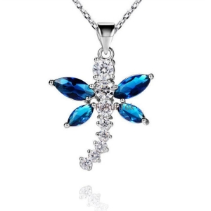 China Fashion 925 Sterling Silver Dragonfly Pendant With Cubic Zirconia Stone RP20338 on sale
