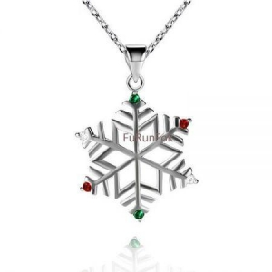 China Fashion Sterling Silver Snowflake Pendant RP20425 on sale