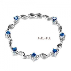 China Sterling Silver Jewelry Fashion 925 Sterling Silver Bracelet With Cubic Zirconia RB00355 on sale