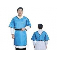 backwards half sleeves and single layer medical protective lead rubber clothing