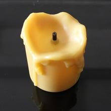China Newest design Yellow Color led plastic candle holders cheap on sale