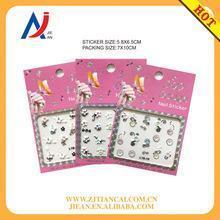 China Design 3D Silver Pearl Rhinestone nail art sticker printer and art nail sticker on sale