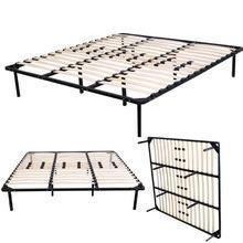 China bed frame Home Furniture Metal Tube Wood Slat Bed Frame on sale