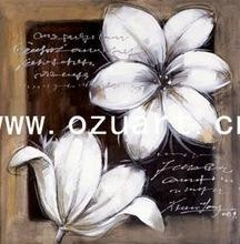 China Handmade Abstract Flower Designs Fabric Painting F066 on sale