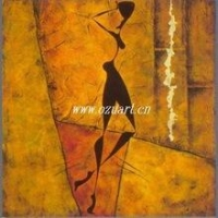 China Absract figure oil painting african women on canvas on sale