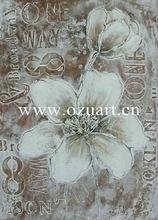 China New Designed Handmade Abstract Flower Oil Painting on canvas on sale